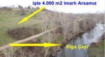 Biga Adliye Köyü 4 Dönüm Arsa Üstü Kiralık Ev Ve Ahır