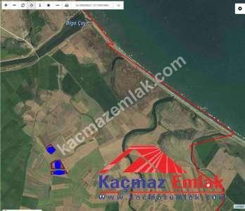 Biga Karabiga'da Denize 1.6 Km Mesafede Satılık Tarla