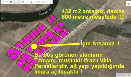 Biga Karabigada Denize Çok Yakın 432 M2 Villa Arsası 1