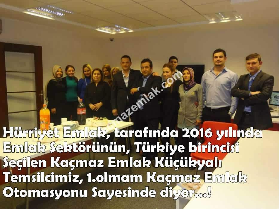 Emlak Sektöründe Türkiye Birincisi, Kaçmaz Emlak Küçükyalı