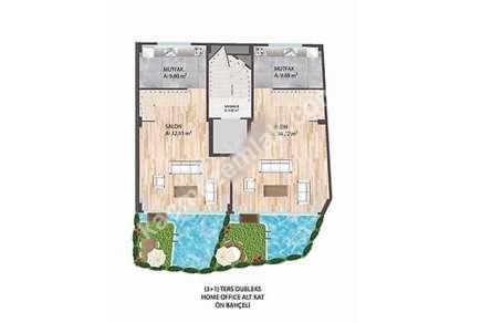 K.yalı Sahilde Açık Ve Kapalı Havuzlu Bahçe Tripleksi 9